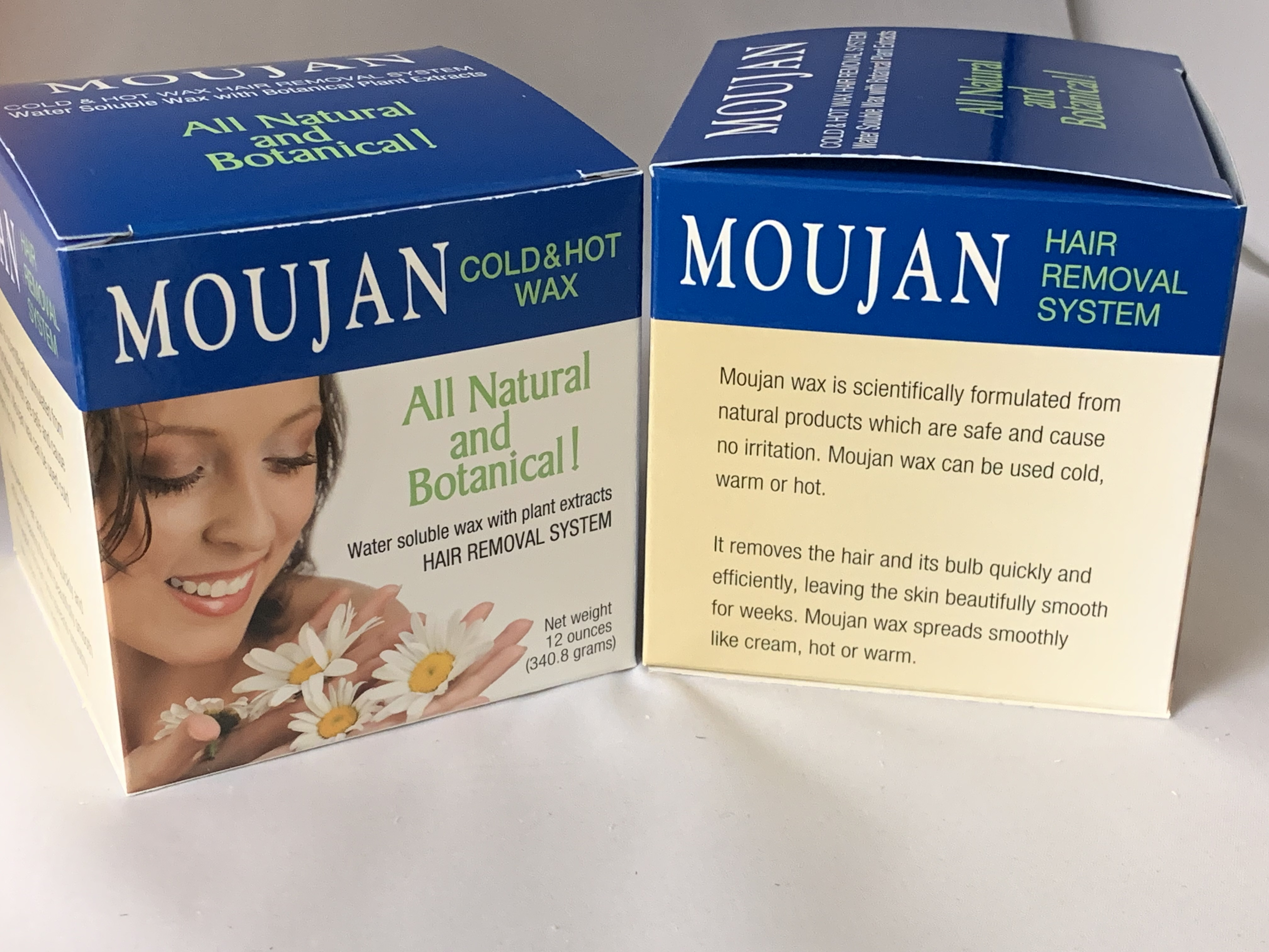 Moujan Cold And Hot Wax Kit 12 Oz Multi Pack Moujan Natural